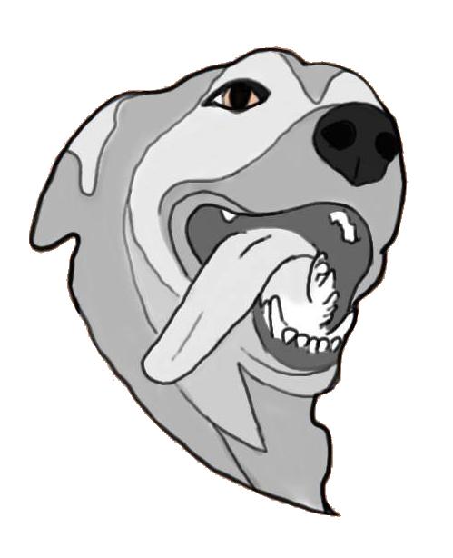 Peachy Development Dog Logo